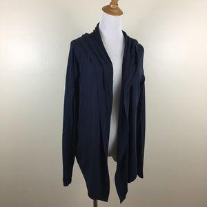 ATHLETA Hoodie Long Sleeve Open Front Cardigan